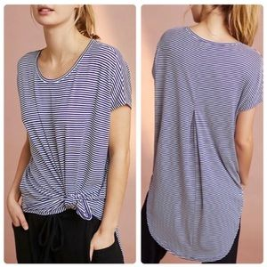 Anthropologie Floreat Striped Oversized Tunic Top